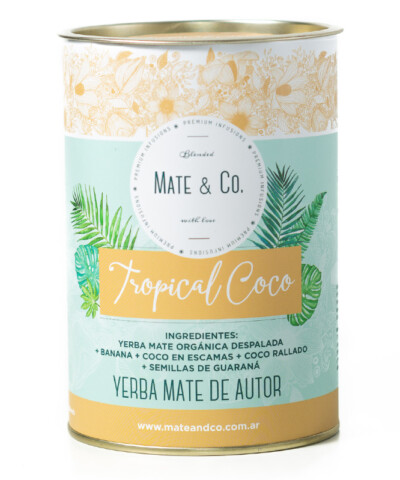 Lata Yerba Tropical Coco - Mate & Co.